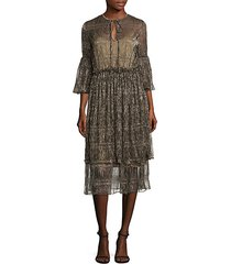 ava maria bell sleeve ruched dress