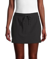 marc new york performance women's drawstring skort - carbon - size s