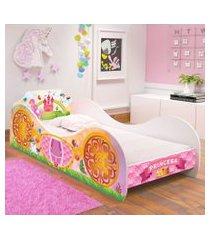 cama solteiro carruagem  princesa encantada - rpm móveis