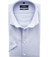 seidensticker korte mouw shirt lichtblauw