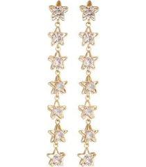 nicole miller star linear drop earring