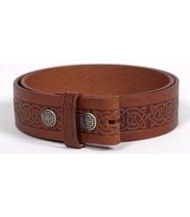 men's setanta celtic leather belt brown l