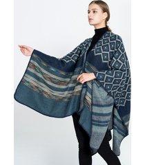 scialle delle donne della manica della pipistrello della lana imitazione geometrica variopinta della boemia