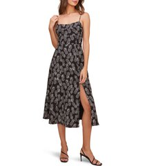 women's astr the label keilani sleeveless midi dress, size large - black