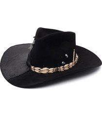 nick fouquet panelled wool fedora hat - black