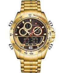 reloj militar dorado naviforce