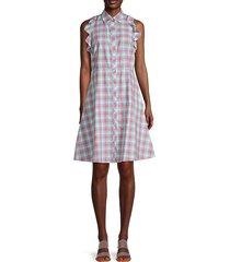 checkered cotton a-line dress
