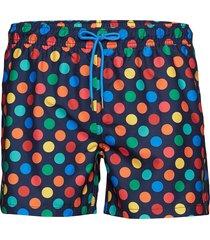big dot swim shorts badshorts svart happy socks
