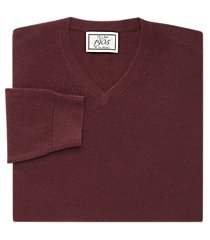 1905 collection cotton v-neck textured men's sweater clearance