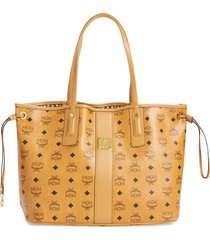 mcm medium liz reversible shopper - brown