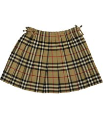 burberry pearly pleated skirt with vintage check motif