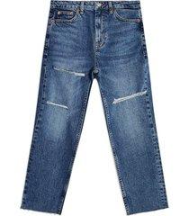 petite women's topshop sofia ripped straight leg jeans