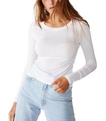 cotton on sheer vintage like scoop long sleeve top