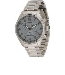 timex waterbury traditional chronograph 42mm watch - silver