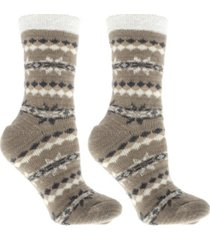 minxny women's non-skid warm soft and fuzzy double layer slipper socks