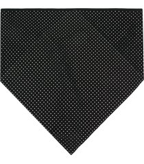 saint laurent studded scarf - black