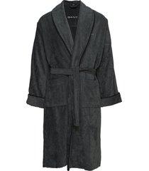 premium velour robe morgonrock badrock grå gant