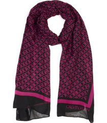 calvin klein chain-print chiffon oblong scarf