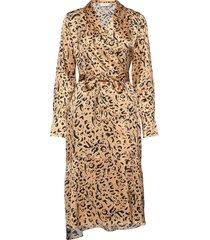 may-britt jurk knielengte bruin fall winter spring summer