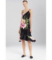 natori clair de lune chemise, women's, 100% silk, size m