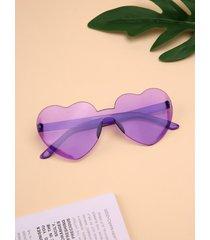 1pc corazón gafas de sol sin montura con montura