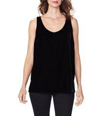 women's nydj velvet tank top, size x-small - black