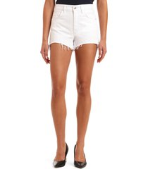 mavi jeans rosie high waist distressed cutoff denim shorts, size 28 in white ripped str at nordstrom