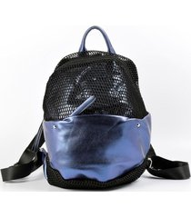 mochila malla azul mailea
