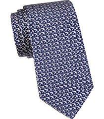 swallow-print silk tie