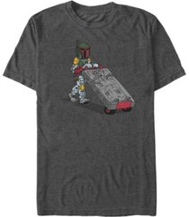 star wars men's classic boba fett cement man short sleeve t-shirt