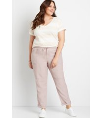 maurices plus size womens lilac weekender pants purple