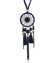 collana lunga ciondolo vintage dream net velluto catena nappe collana di fascino gioielli etnici per le donne