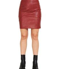 mini falda ecocuero burdeos nicopoly