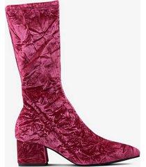 boots mya i sammet med stretchskaft