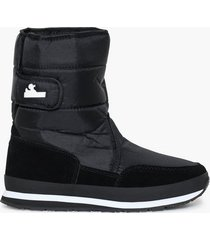 rubber duck nylon suede solid snowjogger flat boots svart