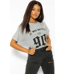 it was better in the 90's graphic t-shirt, grey