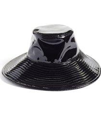 women's eric javits driptidoo patent bucket rain hat -