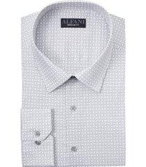 alfani men's slim-fit octagon-tile-print dress shirt, created for macy's