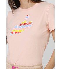 camiseta nike sportswear w nsw tee core hbr rosa - kanui