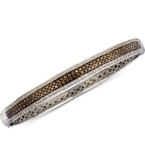 le vian chocolatier stackable bangle bracelet (1-3/4 ct. t.w.) in 14k white gold