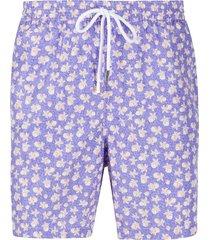 barba star print swim shorts - purple