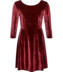 abito in velluto (rosso) - bodyflirt