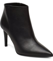 low cut bootie stiletto shoes boots ankle boots ankle boots with heel svart apair