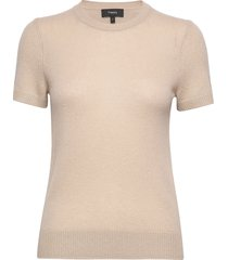 basic tee.feather ca t-shirts & tops knitted t-shirts/tops beige theory
