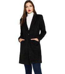 abrigo tipo paño negro  nicopoly