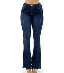 jeans levanta cola azul fascinate