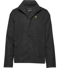 lightweight funnel neck jacket dun jack zwart lyle & scott