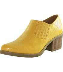 botin animal print elasticado yellow danicolle