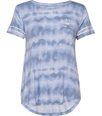 print core washes t-shirts & tops short-sleeved blå hollister