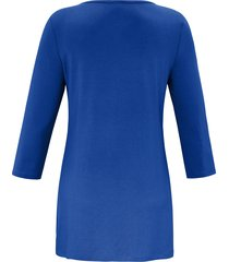 shirt met ronde hals van anna aura blauw